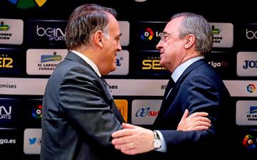 """Chủ tịch La Liga công khai chỉ trích Real Madrid vì đã biến Barca thành """"con tin"""""""