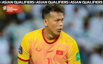 Bắt chính 1 trận, Tấn Trường vẫn xếp top thủ môn vòng loại 3 World Cup 2022 và được AFC vinh danh