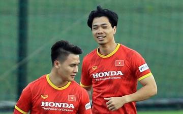 Tiến Linh thắng Công Phượng trong trận đấu tập nội bộ của tuyển Việt Nam