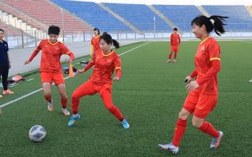 Tạm quên chiến thắng 16-0, tuyển nữ Việt Nam đặt mục tiêu 3 điểm ở trận gặp chủ nhà Tajikistan