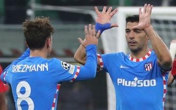 Griezmann, Suarez hóa người hùng ở những phút cuối giúp Atletico Madrid ngược dòng đánh bại AC Milan