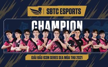 Lội ngược dòng ngoạn mục, SBTC Esports giành vô địch Icon Series SEA mùa Thu 2021
