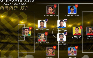 Fan Việt bầu thành công 8 cầu thủ Việt Nam vào đội hình hay nhất AFF Cup 2018