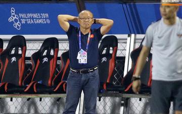 HLV Park Hang-seo cực thư giãn khi Văn Hậu đánh đầu mở tỉ số ở trận chung kết SEA Games 30