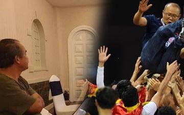 U22 Việt Nam vô địch SEA Games, fan hâm mộ không quên cảm ơn bầu Đức khi thấy ông lặng lẽ theo dõi trận chung kết qua tivi