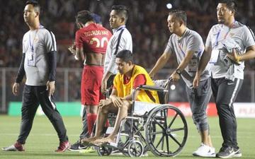 Sao Indonesia phải ngồi xe lăn sau pha va chạm với Văn Hậu: Tôi đã nhận được lời xin lỗi và không trách cậu ấy