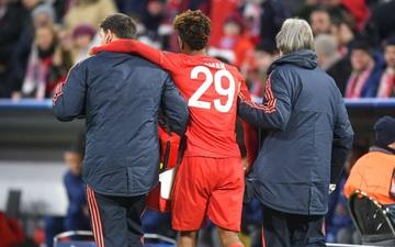 Chấn thương kinh hoàng của Kingsley Coman vì pha tiếp đất lỗi trong trận đấu giữa Bayern Munich và Tottenham Hotspur