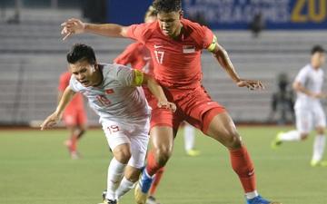 Tìm ra info cầu thủ Singapore va chạm khiến Quang Hải phải rời sân: Chiều cao khủng hơn cả Văn Hậu, có bố là HLV trưởng của đội