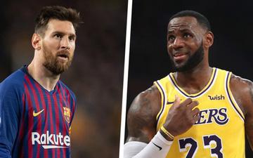 """Vượt mặt cả Messi lẫn """"Tia chớp"""" Usain Bolt, siêu sao LeBron James trở thành VĐV xuất sắc nhất thập kỷ"""