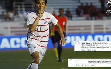 """Fan đua nhau vào trang cá nhân của cầu thủ gốc Việt của Campuchia để """"luận công tội"""": Đánh người xấu xí nhưng lại tài tình sút trượt phạt đền"""