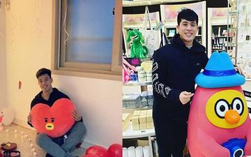 Lễ tình nhân tại Hàn Quốc của Đình Trọng và Văn Thanh: Người lẻ bóng, người nhận quà lãng mạn bất ngờ