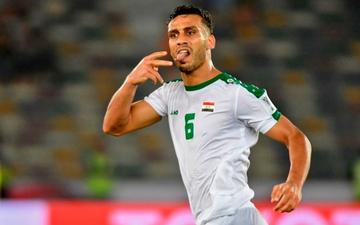 Hậu vệ Iraq sút phạt tung lưới tuyển Việt Nam bất ngờ bị CLB chấm dứt hợp đồng