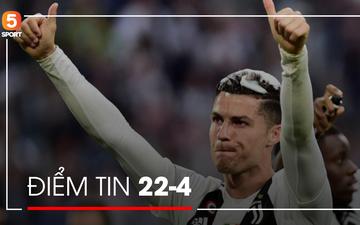 Tin thể thao 22/4: Ronaldo cam kết ở lại Juventus, HLV Klopp thiết lập kỷ lục mới tại Liverpool
