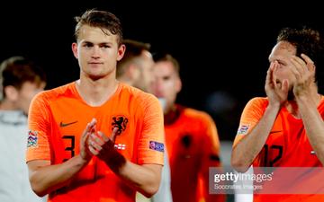 Nam thần De Ligt đánh đầu sửa sai, Hà Lan loại Anh để gặp Ronaldo ở chung kết UEFA Nations League