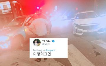 Vô địch kiệm lời, Faker để lại vỏn vẹn 3 chữ trên Twitter khi chứng kiến Impact gặp tai nạn