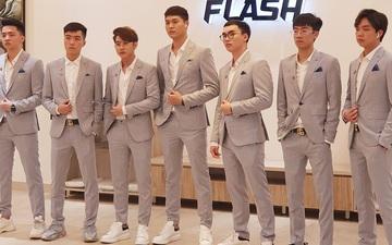 """Team Flash bảnh bao trong bộ vest lịch lãm nhưng fan """"nóng mắt"""" vì phát hiện Elly lạc loài"""