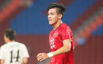 Tiến Linh ăn mừng đầy cảm xúc khi ghi bàn vào lưới U23 CHDCND Triều Tiên