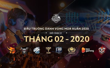 7 đội đã sẵn sàng cho ĐTDV mùa Xuân 2020, chỉ còn Mocha ZD Esports chưa công bố đội hình