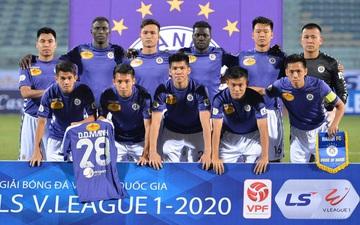 Cầu thủ Hà Nội FC tri ân Duy Mạnh trong chiến thắng trước Nam Định FC ngày khai mạc V.League