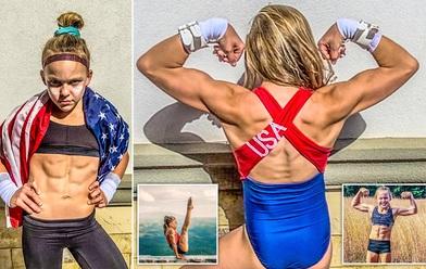 Nữ VĐV nhí mới 10 tuổi đã có 6 múi căng đét cùng cơ bắp cuồn cuộn, gây choáng khi hé lộ số thời gian tập luyện mỗi tuần