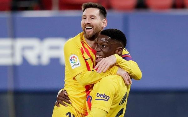 Messi tỏa sáng, Barca áp sát ngôi đầu La Liga