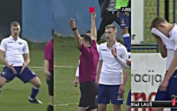 Học theo màn ăn mừng phản cảm của Ronaldo, chân sút trẻ ngay lập tức bị truất quyền thi đấu